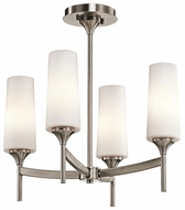 Kichler 42809CLP Kinsley Convertible Semi-flush Mount Lighitng/Hanging Pendant Fixture