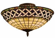 Landmark 937-CB Angel Wing 3 Light Tiffany Semi Flush Ceiling Fixture