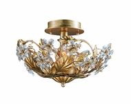 Crystorama 5305-GL Abbie 12 inch semi flush mount in Gold leaf