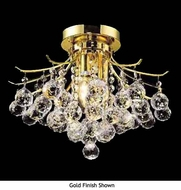 Worldwide 33015 Worldwide 12  3-light Crystal Semi-Flush Ceiling Light