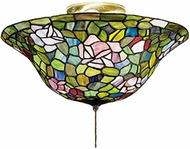 Meyda Tiffany 27445 Rosebush Tiffany Flush-mount Ceiling Light