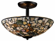 Landmark 600173 Trego Art Glass Semi-Flush Ceiling Light