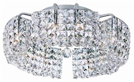 Trans Globe MDN824 Square Crystal Halogen Semi-Flush Ceiling Light