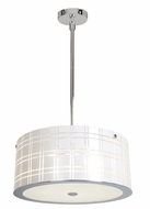 Access 50976CH Kalista Modern Diamond Etched Pendant Light - Large