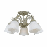 Crystorama 4745-SL Primrose 22 inch ceiling light in Silver Leaf finish