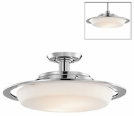 Kichler 42209CH Laval Contemporary Convertible Stem-mounted Pendant/Semi-Flush Ceiling Light Fixture