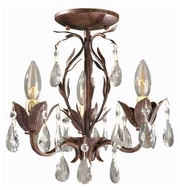 World Imports 8102362 Bijoux Rustic Semi-Flush Ceiling Light