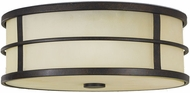 Feiss FM257-GBZ Fusion 3-light 5 inch Grecian Bronze Flushmount Ceiling Light