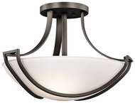 Kichler 42652OZ Owego 3-lamp Large Modern Ceiling Light Fixture in Olde Bronze