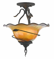 Quoizel BLDS1715IB Bellissimo Semi-Flush Ceiling Light with Desert Sunrise Art Glass