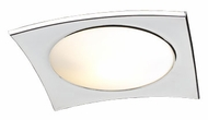 PLC 7644-PC Quidam Contemporary Flush-Mount Ceiling Light - 16 inches wide