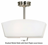 Kenroy Home Oslo Contemporary Semi-Flush Ceiling Light