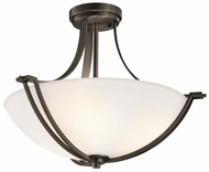 Kichler 42766OZ Chatham Olde Bronze Modern Convertible Pendant/Ceiling Light