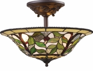Landmark 08015-TBH Latham 3 Light Rustic Semi Flush Ceiling Fixture