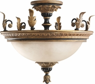 Kichler 3715-ACK Francesca Rustic Antique Crackle 2-light Semi Flush
