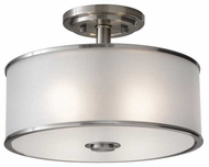 Feiss SF251BS Casual Luxury Semi-Flush Ceiling Light in Brushed Steel
