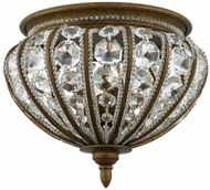 Quoizel EP1616BO Empire Four Light Flush Mount Ceiling Fixture