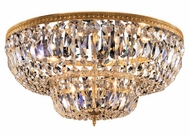 Crystorama 724 Myriad 24 inch flush-mount 6-lite crystal ceiling light in Olde Brass