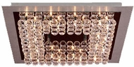 PLC 72116-AL_PC Petula Contemporary Crystal Flush-Mount Ceiling Fixture - 19 inches wide