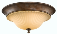 Feiss FM278-BRB Somerset 3 Light 16 inch Flushmount Ceiling Fixture