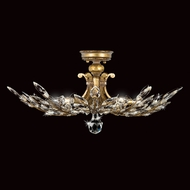 Fine Art Lamps 776240 Crystal Laurel Gold 5-lamp Semi Flush Mount Crystal Ceiling Lighting