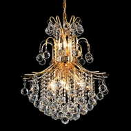 Elegant 8002D22G-RC Toureg Medium Crystal Drop Ceiling Lighting With Gold Finish
