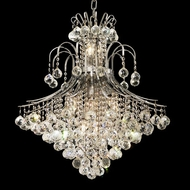 Elegant 8003D25C-RC Toureg Large Chrome 31  Tall Crystal Hanging Chandelier
