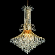 Elegant 8006G35G-RC Toureg Gold Finish Medium Crystal Foyer Lighting Fixture