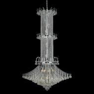 Elegant 8008G44C-RC Toureg Tall Chrome Crystal Foyer Light Fixture
