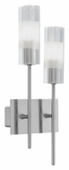 EGLO 88849A Alessa Modern 2 Lamp 16 Inch Tall Wall Sconce Light Fixture - Matte Nickel