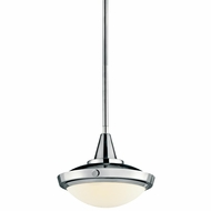 Kichler 42134CH Fremont Small Chrome Convertible Pendant Lighting/Semi-flush Ceiling Light