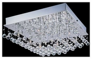 Lite Source LS5580 Krysztal Square Flush Mount Ceiling Light
