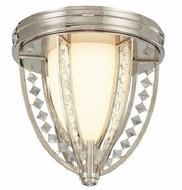 Troy C1920PN Collins 2 Light Diamond Crystal 11.25 inches Flushmount Ceiling Fixture