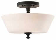 Feiss SF275BK Peyton Semi-Flush Ceiling Light