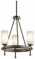 Kichler 42944SWZ Ladero Convertible 3-light Semi-Flush Light/Pendant Fixture