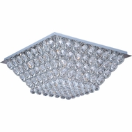 ET2 E2400120PC Brilliant 24-lamp Medium-sized Flush Mount Ceiling Light - Crystal Accent