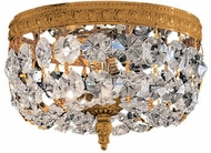 Crystorama 708 Myriad 8 inch flush-mount 2-lite crystal ceiling light in Olde Brass