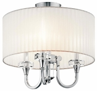 Kichler 42630CH Parker Point Modern Duo-mount Semi-flush Mount Ceiling Light and Stem-mounted Pendant