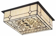 Landmark 700072 Adamson Tiffany Flush Mount Ceiling Light