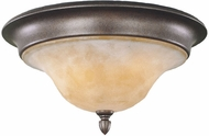 Feiss FM221-CB Tuscan Villa Traditional 3-light 15 inch Flushmount Fixture in Corinthian Bronze