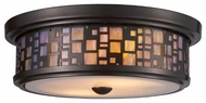 Landmark 700272 Tiffany Flushes Drum Ceiling Light in Oiled Bronze