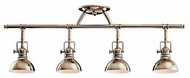 Kichler 7704PN Pharmacy 4-Lamp Directional Rail Light in Polished Nickel