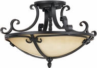Feiss SF229BK King's Table Semi-Flush Ceiling Light
