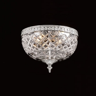 Crystorama 117-8-CH Serene 8 inch crystal flush mount in chrome
