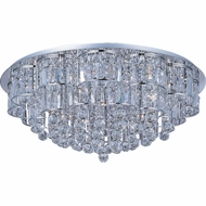 ET2 E2325920PC Bangle Large 28-light Crystal Flush Mount Ceiling Light
