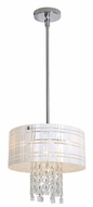 Access 50972CH Kalista Crystal and Diamond Etched Pendant Light