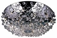 Trans Globe MDN-539 Turais Crystal Eighteen Light Flush Mount Ceiling Light