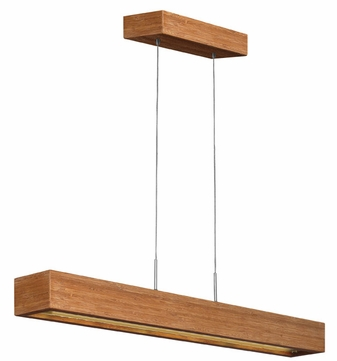 Fredrick Ramond 46205BAM Zen Contemporary Bamboo L.E.D. Kitchen Island Lighting