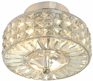 Crystorama 809-CH-CL-MWP Chelsea 9 inch semi flush mount in polished chrome