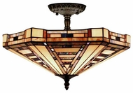 Landmark 932CB American Art Tiffany Semi-Flush Ceiling Light